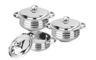 China Full Mirror Polished Stainless Steel Cookware Sets Durable And Easy Cleaning supplier