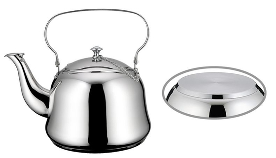 China Full Mirror Polished Stainless Steel Tea Kettle Food Grade Ss201 # Strong And Immune To Rust supplier