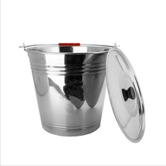 Home Stainless Steel Water Bucket  With Lid 13L / 16L /20L Capacity Eco - Friendly