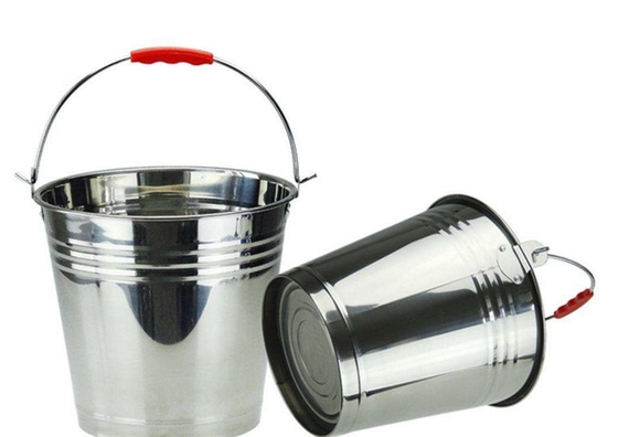 5 Gallon  Stainless Steel Water Bucket Food Grade Full Mirror Polished