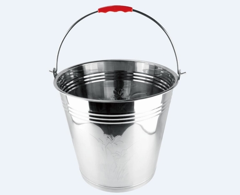 China Household 10-20Litre Stainless Steel Pail , Custom Stainless Steel Ice Bucket ,stainless steel bucket hot sell in Africa factory