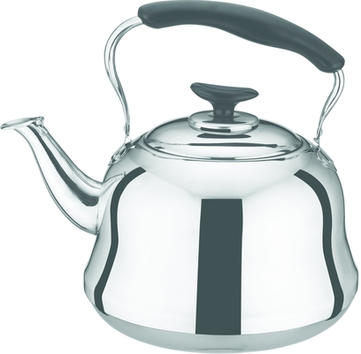 Traditional Stainless Steel Whistling Kettle Mirror Polish Inside And Outside