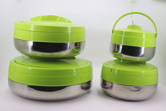 Office Stainless Steel Lunch Box Keep Warm Wtih Green Cover 2L - 10L Capacity
