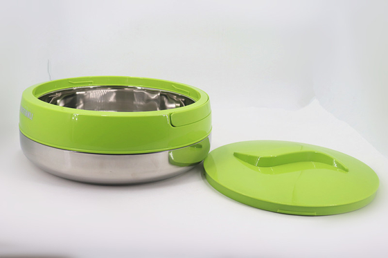 Insulated Stainless Steel Lunch Box 2.0L / 4.0L 0.5MM  Thickness For Adults
