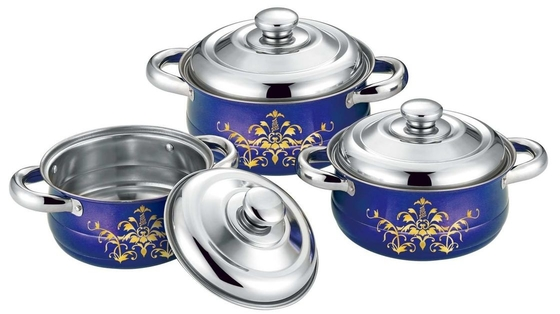 Food Grade Stainless Steel Cookware Sets 16cm To 20cm Sauce Pot 0.5mm Thickness