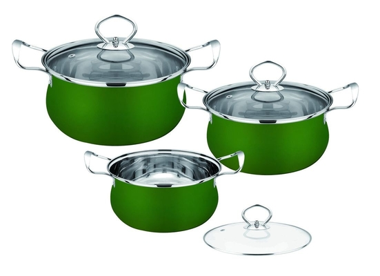Ss410 # Stainless Steel Non Stick Cookware , Home Kitchen  Pan Set ECO - Friendly