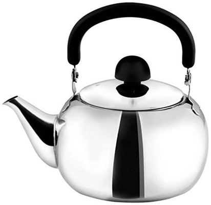Durable Stainless Steel Tea Kettle / Stovetop Whistling Kettle 0.4mm Thickness