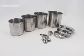 Food Grade Stainless Steel Mug  0.4mm Thickness Polishing Finished Tea Cups