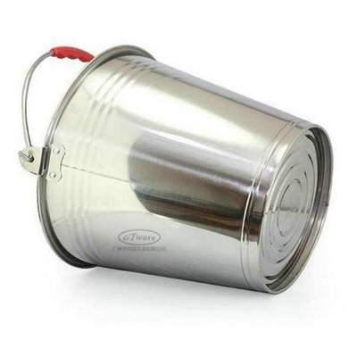 Food Grade Stainless Steel Water Bucket 0.4mm Thickness Durable And Easy Cleaning