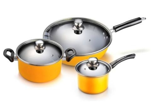 China Custom Non Stick Pots And Pans Set , Stainless Steel Non Stick Cookware factory