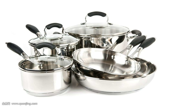 China Non Stick Stainless Steel Cookware Set , Home Kitchen Pots And Pans Set factory